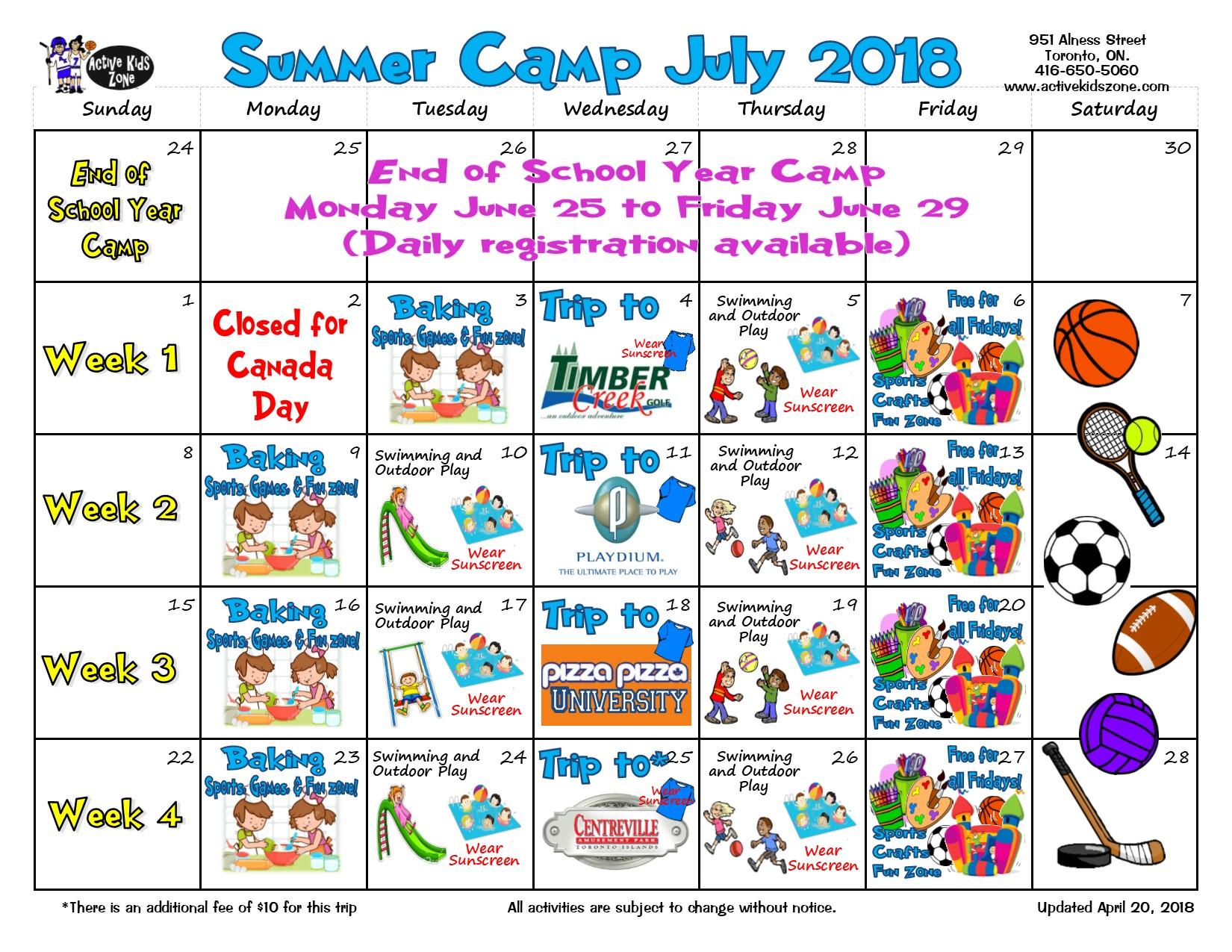 Summer Camps July